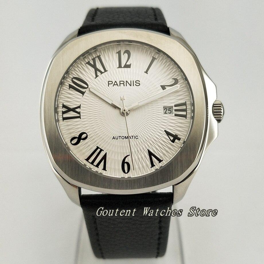 39 มิลลิเมตร Parnis SS กรณีแซฟไฟร์ 21 อัญมณี Miyota 8215 อัตโนมัตินาฬิกาผู้ชาย-ใน นาฬิกาข้อมือกลไก จาก นาฬิกาข้อมือ บน   1
