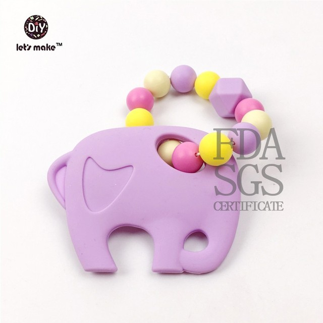 Teether, Baby Teether - Silicone Safe Elephant Teether - 20% Off using code:- booandyou20