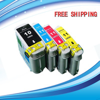 Free Shipping 4 PK Ink Set use for HP10 12 C4844A C4804A C4805A C4806A high capacity for HP Business Inkjet 3000 3000dtn 3000n
