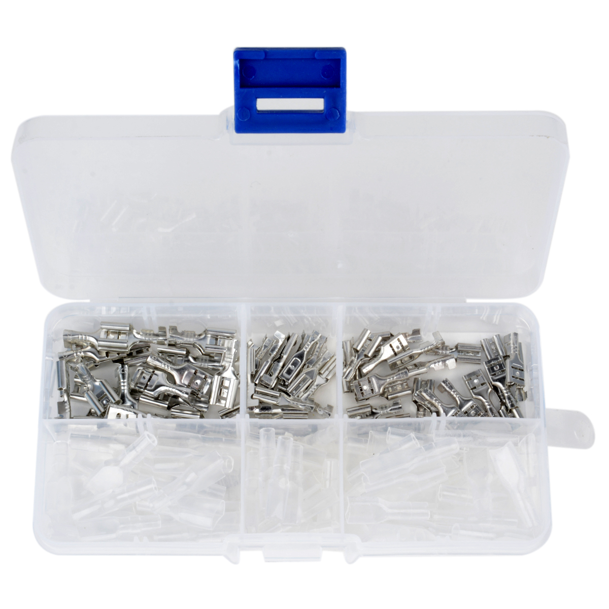 120pcs Set 2 8mm 4 8mm 6 3mm Female Spade Connectors High Quality Crimp Terminals with Insulating Sleeves in Terminals from Home Improvement