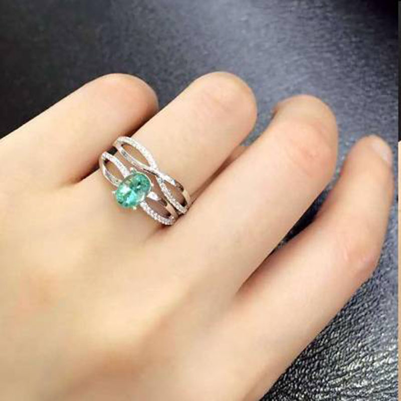 Jewelry Anillos Qi Xuan_Fashion Jewelry_Colombia Green Stone Fashion Rings_S925 Solid Silver Woman Rings_Factory Directly Sales 2017 anillos jewelry qi xuan