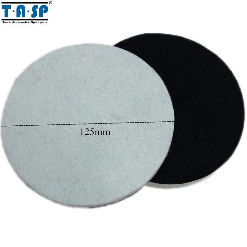 TASP 2 pezzi 125 mm lana lucidatura e lucidatura Pad Hook & Loop per - Utensili elettrici - Fotografia 1