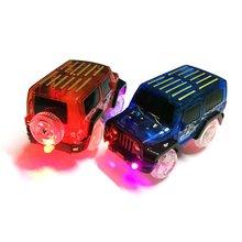 OCDAY электронный игрушечный автомобиль светодиодный светильник для светящихся гоночных трасс мигающий детский Железнодорожный светящийся автомобильный трек brinquedos