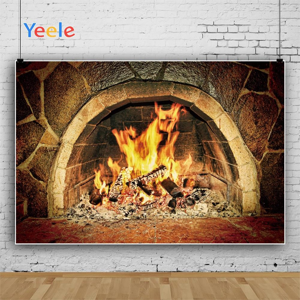 Yeele Stone Fireplace Wallpaper Love Vitality HePhotography Backdrops Personalized Photographic Backgrounds For Photo Studio in Background from Consumer Electronics