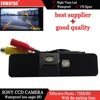 FUWAYDA For SONY CCD Sensor Special Car Rear View Reverse Backup Parking Safety Mirror Image With Guide Line CAMERA for Subaru image