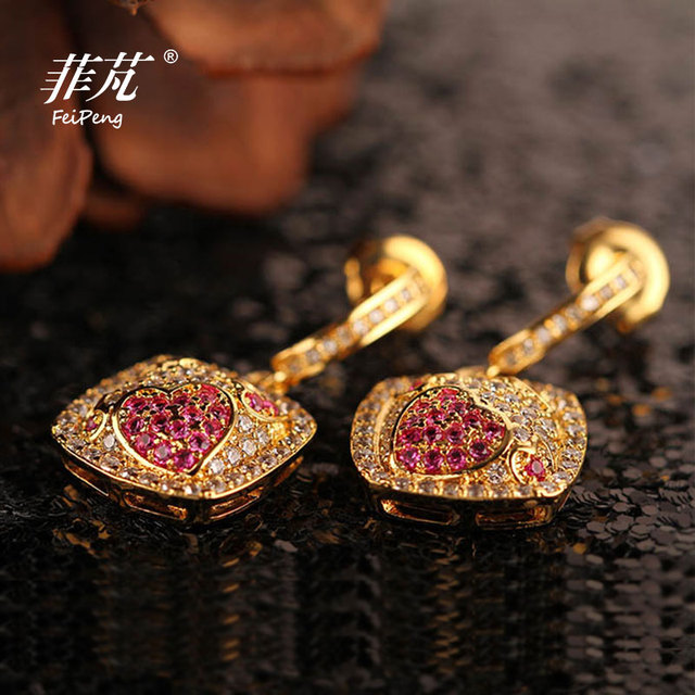 2016 Fashion Rhinestone Trendy/ Elegant Dangle Earrings with Crystal Cubic Zirconia Stone Luster Gift  For Women Free Shipping