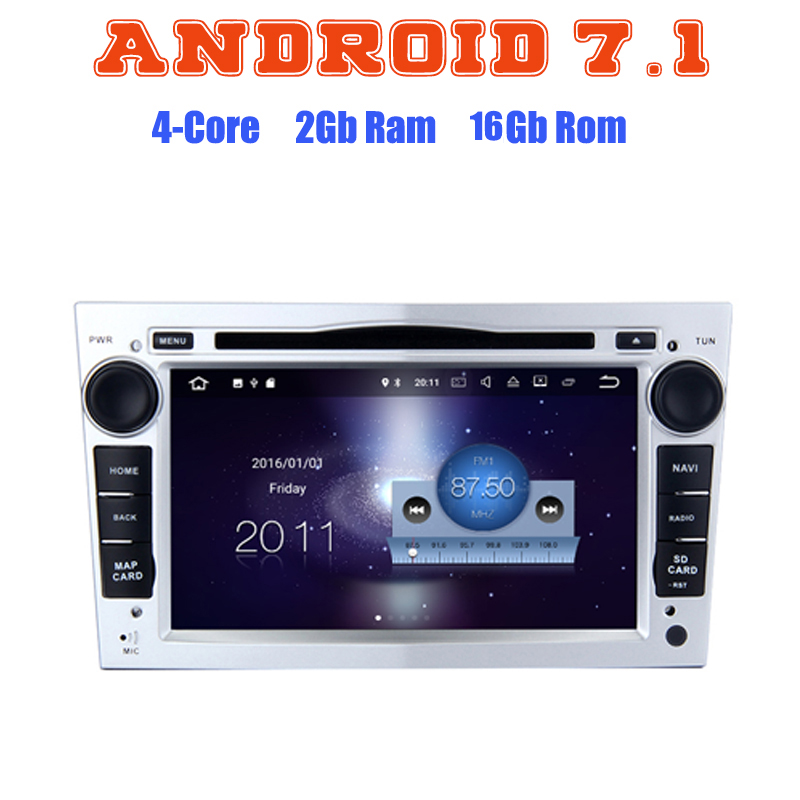For Opel Meriva Vivaro Zafira Combo Astra Corsa Vectra C Signum Quad Core Android 7 1