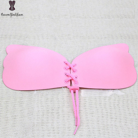 Free Shipping Pink Invisible Bra Super Push Up Seamless Self-Adhesive Sticky Front Strapless Fly Bra For Wedding Party 9001 Pakistan