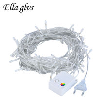 LED Strings Light 10M 100LEDS Outdoor Waterproof AC220V 110V US/EU Plug Christmas Garland For Party wedding Decoration