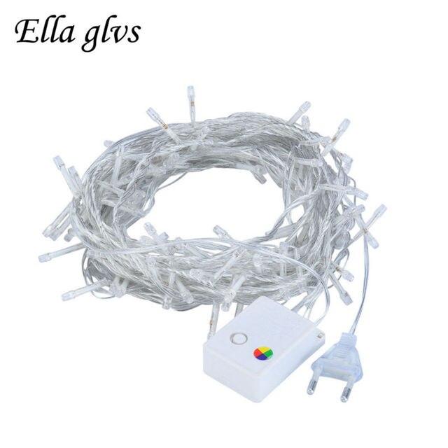 LED Strings Light 10M 100LEDS Outdoor Waterproof AC220V 110V US/EU Plug Christmas Garland For Party wedding Decoration