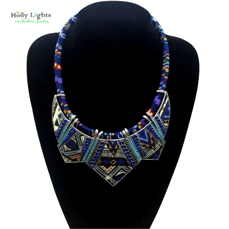 Women fashion bohemia necklace&pendants modern hippie vintage big name choker necklace tribal ethnic boho multicolor rope bijoux