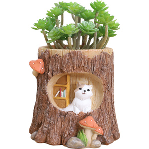 Image 5 - Roogo Wooden Shape Hanging Flowerpot Balcony Hanging Planter Of Animals Succulent Plant Pot Creative Cachepot For flowers