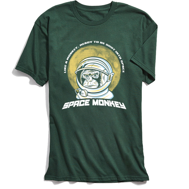 Space Monkey 2018 Newest Mens T Shirt Crew Neck Short Sleeve 100% Cotton Fabric Tees Funny Tshirts Top Quality Space Monkey dark