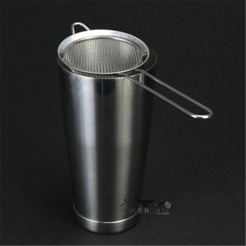 1pcs 304 Stainless Steel Conical Cocktail Sieve Great For Removing Bit From Juice Julep Strainer Cocktail Strainer Bar Strainer in Bar Strainers from Home Garden