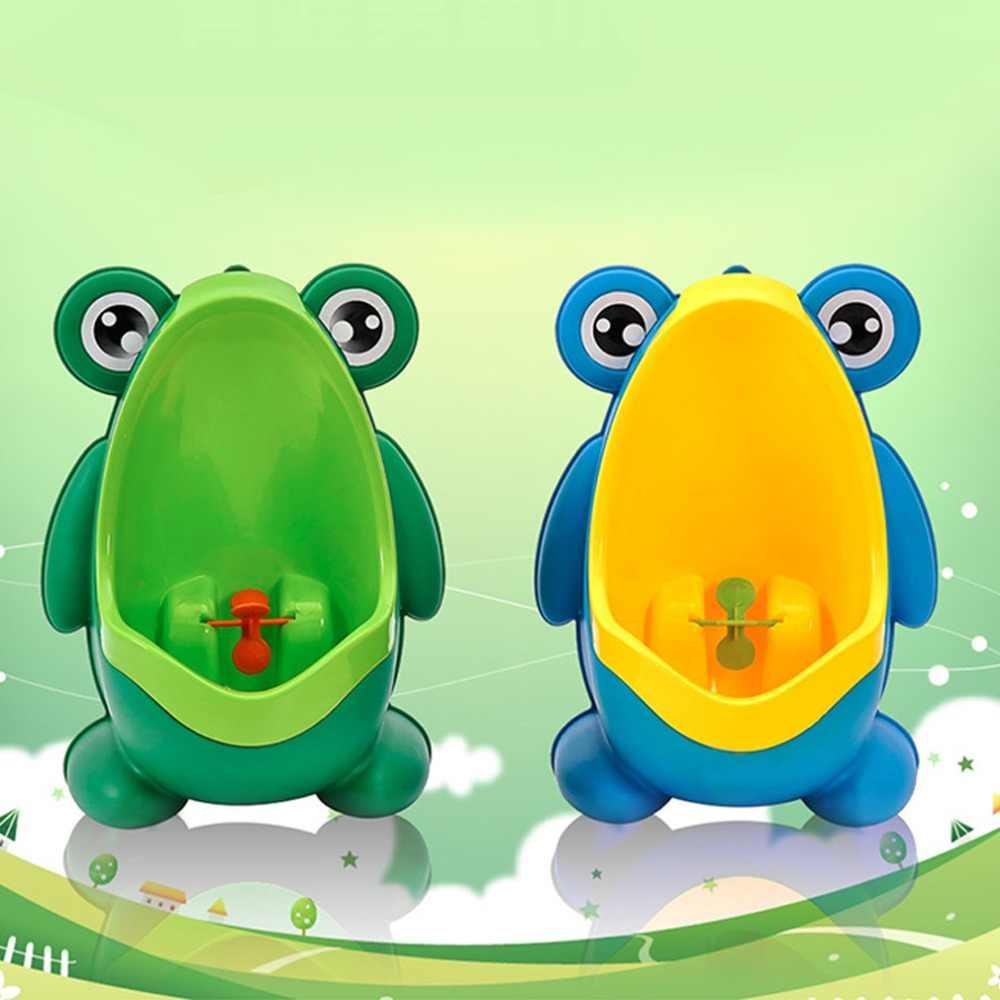 Портативный эргономичный дети мальчик дети Туалет Обучение детей лоток мочи домой Ванная комната форма лягушки унитаз-писуар