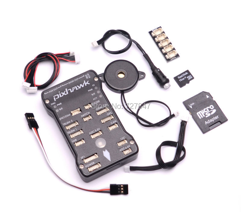 Pixhawk PX4 Autopilot PIX 2.4.8 32 Bit Flight Controller with Safety Switch and Buzzer 16G SD and I2C Splitter Expand Module gold plated socket pixhawk 2 4 7 flight controller