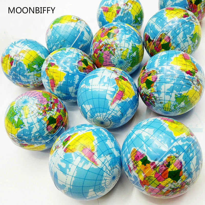 New High Quality Stress Relief World Map Foam Ball Atlas Globe Palm Ball Planet Earth Ball