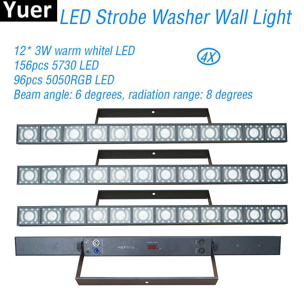 3IN1 LED Wall Washer Light Beam Wash Strobe Effect DMX512 LED Bar DJ Disco Light Color Music Club Party Stage Wash Wall Light