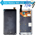 Black For Nokia N9 LCD Display Touch Screen Digitizer Assembly with Frame +Tools