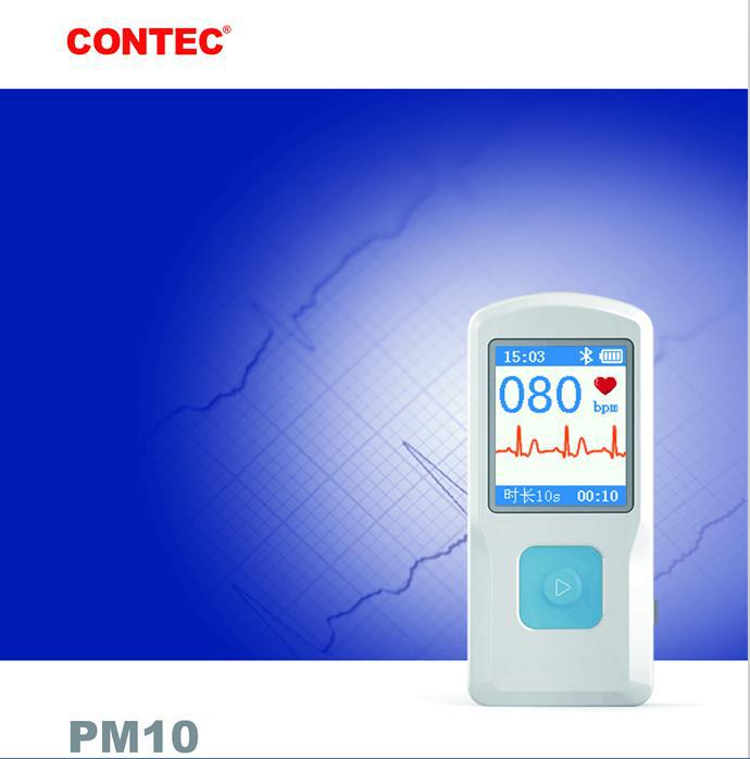 PM10 Portable Handheld Heart machine Bluetooth+USB PC Software,Home Care contec ec80a cms80a pc software handheld portable ec electronics machine ecg80a portable heart monitor holter medical equipment