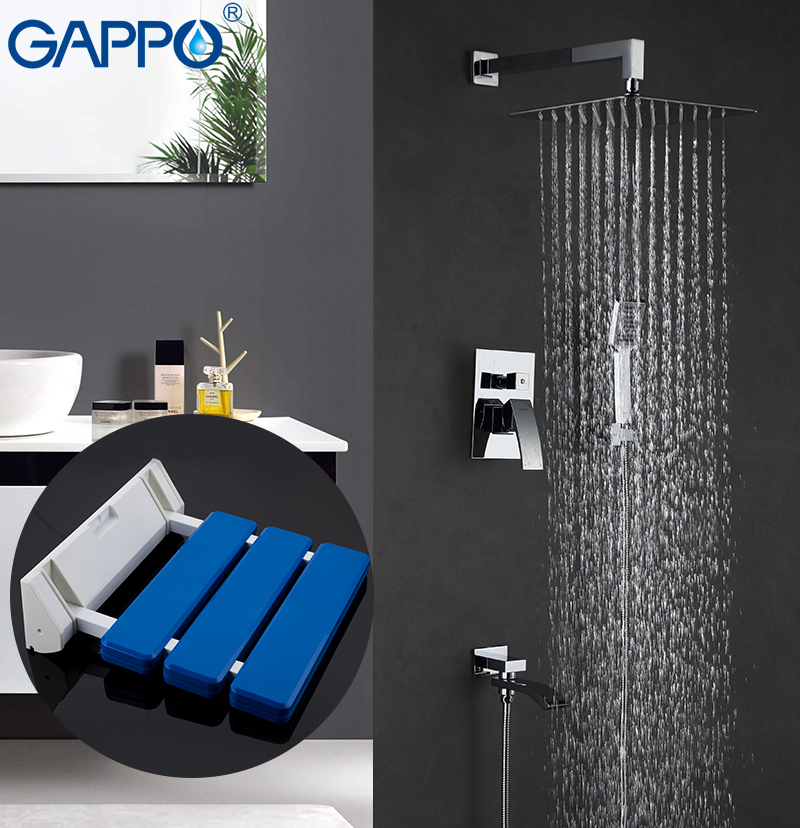 Bathroom Sinks,faucets & Accessories Gappo Bathtub Faucets Bath Tub Faucet Bathroom Relax Chair Wall Mounted Shower Seats Shower Stool Toilet