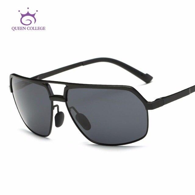 Queen College Polarized Sunglasses Men Ultra-light Aluminum-magnesium Alloy Eyeglasses Brand Designer Sun Glasses UV400 QC0482