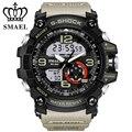 G estilo de cuarzo Reloj deportivo Digital Relojes hombres 50 M Impermeable dial grande horas militar LED relojes Luminosos 2017 Moda