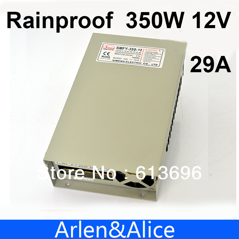 350W 12V 29A Rainproof outdoor Single Output Switching power supply smps AC TO DC for LED meanwell 12v 350w ul certificated nes series switching power supply 85 264v ac to 12v dc