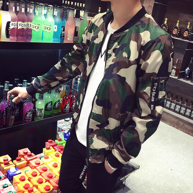 New 2016 fashion camouflage thin jacket men military style bomber jacket men veste homme men's clothing plus size m-5xl /JK14