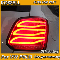 KOWELL Car Styling For vw POLO taillights 2006 2007 2016 BENZ model For VW golf MK6 led rear lights car styling cover drl+signal