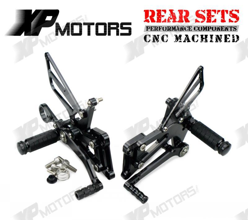 CNC Racing Foot pegs Adjustable Rearset Rear Sets For BMW S1000RR 2009 2010 2011 2012 2013 2014 Black