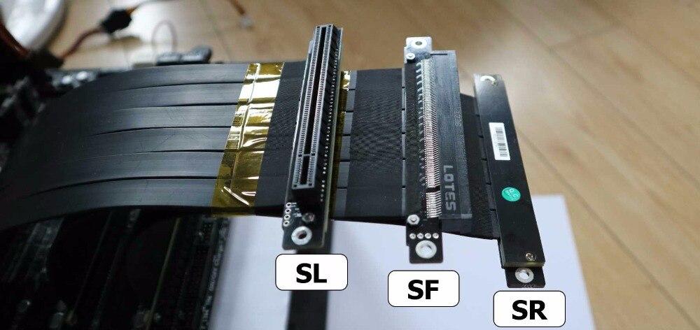 Riser x16 PCI-E 16 To 16 Riser card extension Cable Elbow Gen3.0 5cm 60cm 80cm 1m 100cm 3.0 pcie 16x to 16x Extender Left Angle