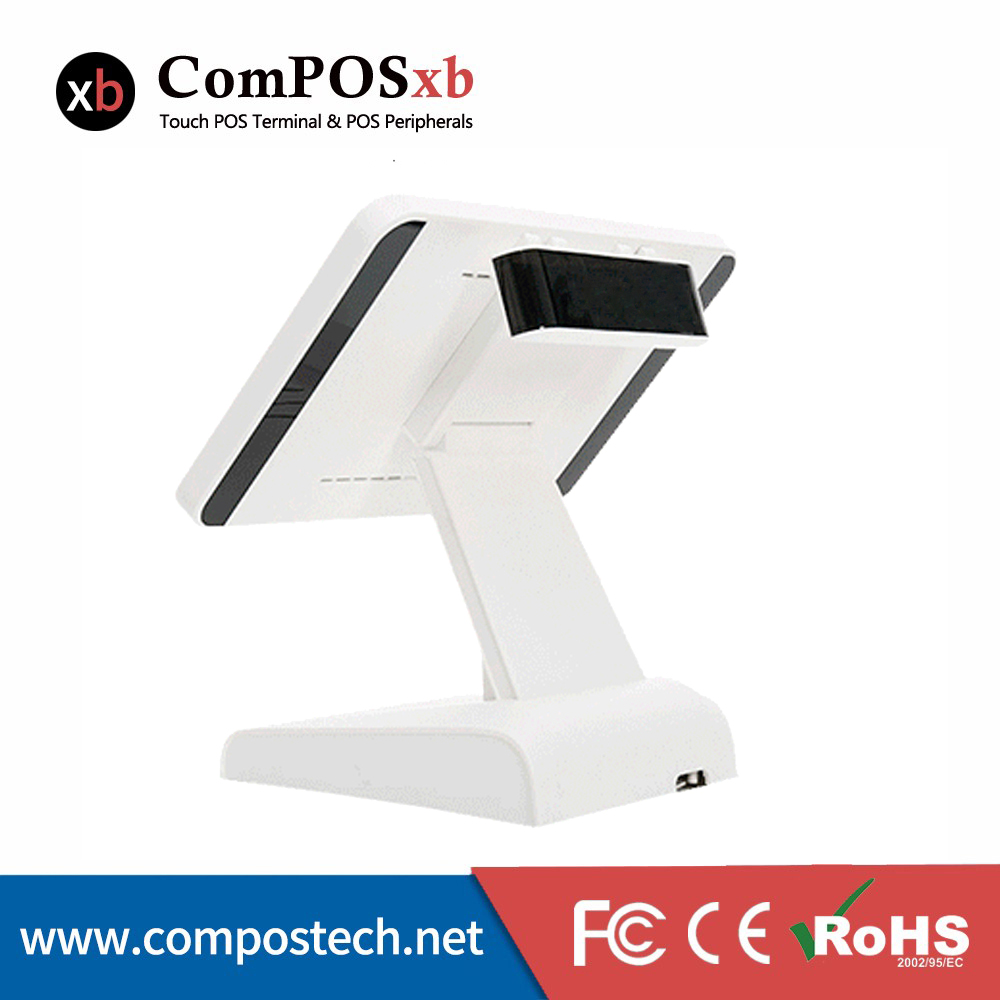 Free Shipping 15 Inch Windows Pos System Capacitive Screen Touch Cashier Terminal Build in VFD Customer
