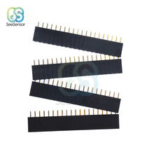 10Pcs 1X20 PIN Single Row Straight Female Pin Header 2.54mm Pitch Strip Connector Socket 20p 20PIN 20 PIN For PCB 5pcs pitch 2 54mm 80 pin 2x40 double row male breakable pin header connector strip for arduino black