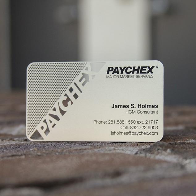 Металлическая визитная карточка с вырезами, металлическая визитная карточка из нержавеющей стали