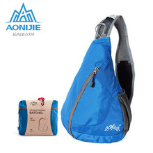 AONIJIE Foldable Shoulder Outdoor Triangle Trend Chest Pack Men and Women Single Sport Shoulder Chest Bags Mochila Climbing Bag