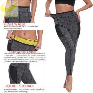 Image 2 - LAZAWG ผู้หญิงเอวเทรนเนอร์ร้อนซาวน่าเหงื่อกางเกง Neoprene Slimming Body Shaper GYM Workout กางเกง Tummy ควบคุมกางเกง