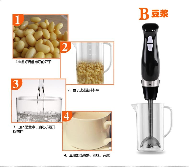 Handheld Whisk eggs Blender Fruit Vegetable Juicer Mixer cooking machine baby food juice Extractor meat mixer grinder EU US plug