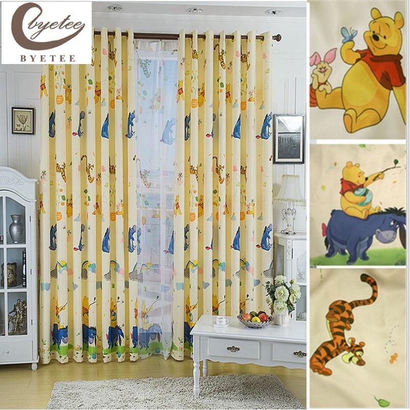 [byetee] การ์ตูนม่านหน้าต่างผ้าม่านเด็กสำเร็จรูปเด็กม่านสำหรับห้องนอนห้องนั่งเล่นเด็กผ้าม่านผ้าม่าน