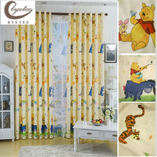 [byetee] Cartoon Curtain Window Curtain Baby Finished Kids Curtain For Bedroom Living Room Children Blackout Curtains Drapes