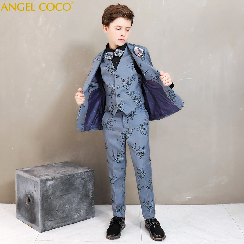 Boys Suits For Weddings Kids Prom Suits Christmas Dress Suits Kids Tuexdo Big Children Clothing Set Boy Formal Classic Costume