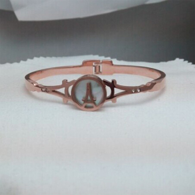 Titanium steel Korea style Bangles iron tower Rose gold Bangles accessories jewelry