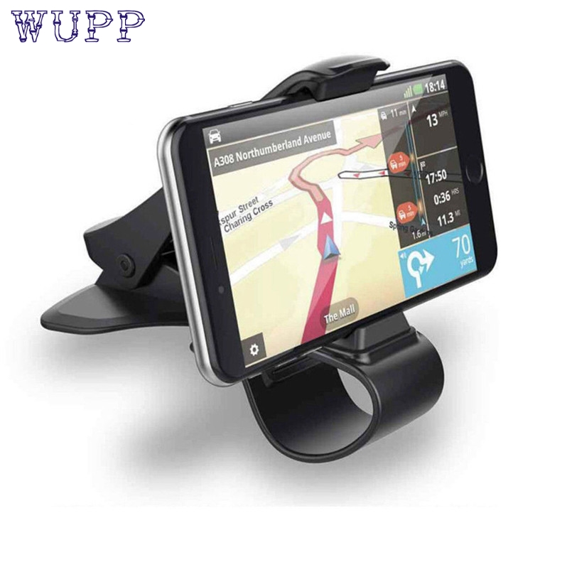 WUPP Universal Car Dashboard Cell Phone GPS Mount Holder Stand HUD Design Cradle New For PDA MP4 Phone ABS Max Size Of Clip #30(China)