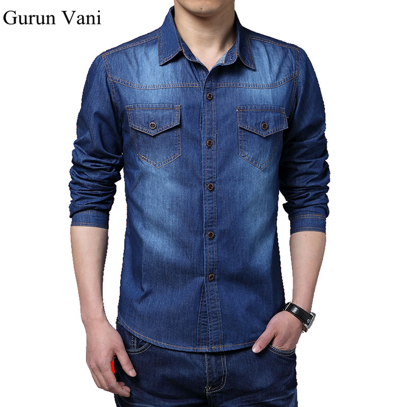 High quality long sleeve casual shirt slim denim shirts for Good quality long sleeve t shirts