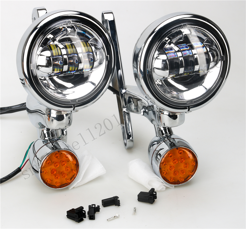 Motorcycle Auxiliary Lamps Fog Passing Lights For Harley