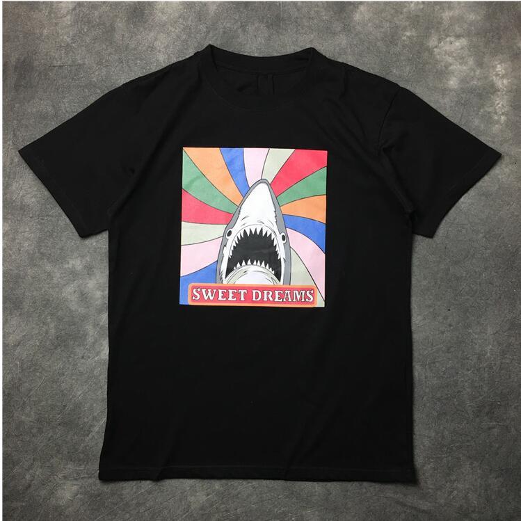 High New Novelty 2017 Men High Shark sweet dreams T Shirts T-Shirt Hip Hop Skateboard Street Cotton T-Shirts Tee Top Top #38