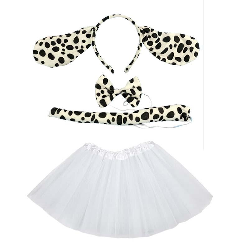 Infant Dalmatian Costume | Animal Dalmatian Costume Cosplay Head Wear Headband With Tutu Skirt  Kids Children Party Props Halloween Carnival Birthday Gift