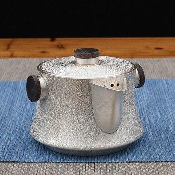 Reinem Silber Kungfu Teegeschirr Kreative Sandelholz Doppel Ohr Anti-verbrühungen Teekanne, Der Tee Reine Handarbeit Silber Topf