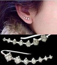 E509 2017 new hot CZ Diamonds Jewelry Stud Earrings For women Jewelry accessione Ear Hook free shipping