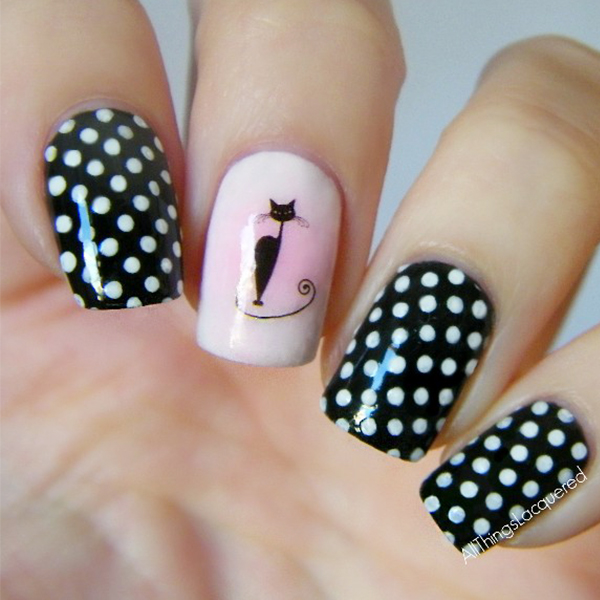 1 Sheet Black Cat Nail Art Water Decals Transfers Sticker Pretty Pattern  Manicure Nail Art Decoration#16035-in Stickers & Decals from Beauty &  Health on ... - 1 Sheet Black Cat Nail Art Water Decals Transfers Sticker Pretty